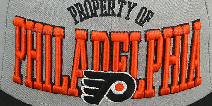 4df5dbfc Philadelphia Flyers TEAM-PRIDE Grey-Black Fitted Hat by New Era