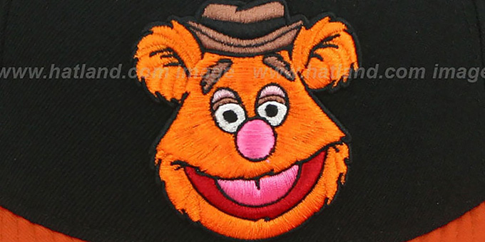 Fozzie 'MUPPETS' Black-Orange Snapback Hat by New Era