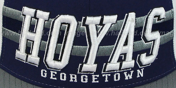 Georgetown '2T SUPERSONIC SNAPBACK' Navy-Grey Hat by Zephyr