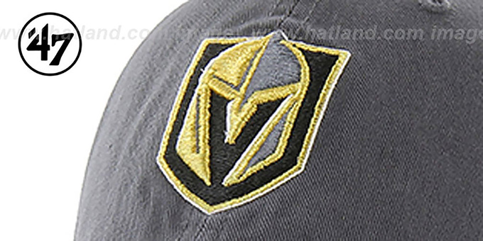 Golden Knights 'CLEAN-UP STRAPBACK' Grey Hat by Twins 47 Brand