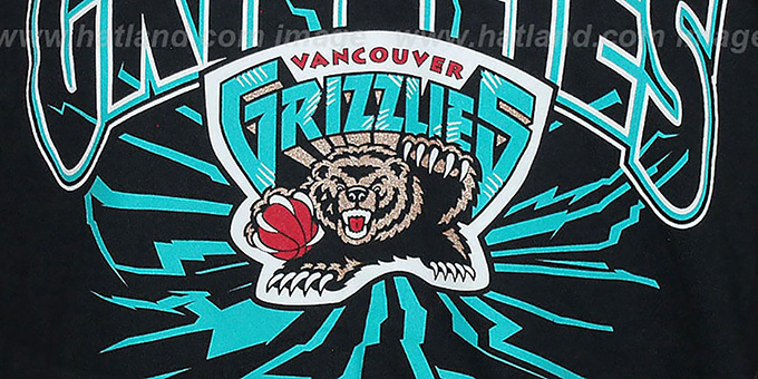 Grizzlies 'EARTHQUAKE' Black T-Shirt by Mitchell & Ness