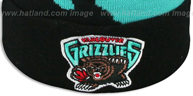 Grizzlies 'PAINTBRUSH BEANIE' by Mitchell and Ness