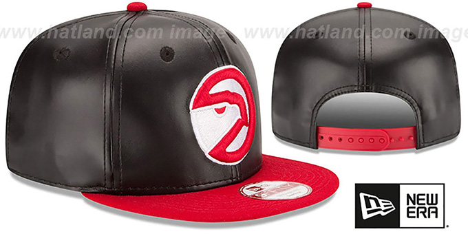 Hawks 'SMOOTHLY STATED SNAPBACK' Black-Red Hat by New Era