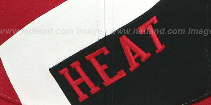 Heat '1-ON-1 SNAPBACK' Red-White-Black Hat by Mitchell & Ness