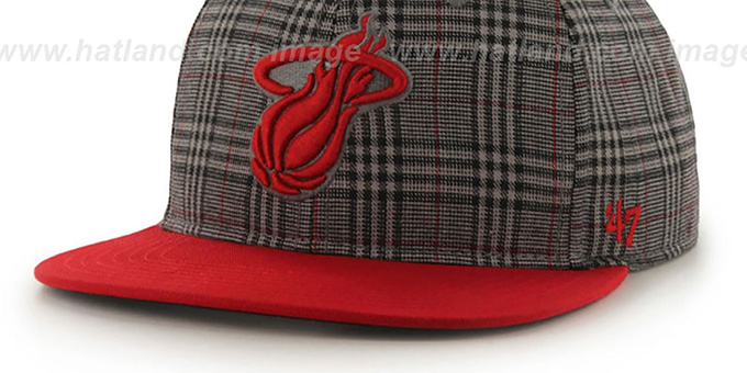 Heat '60-MINUTES STRAPBACK' Red Hat by Twins 47 Brand