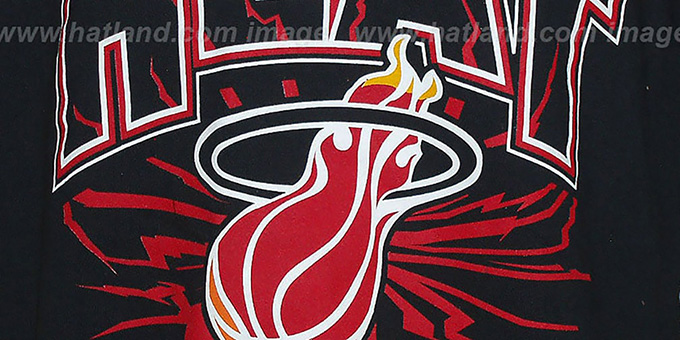 Heat 'EARTHQUAKE' Black T-Shirt by Mitchell & Ness