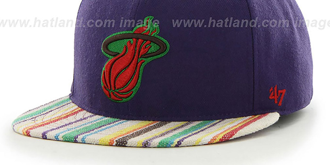Heat 'HWC BODHI' Purple Fitted Hat by 47 Brand