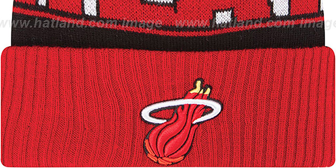 Heat HWC 'REP-UR-TEAM' Knit Beanie Hat by New Era