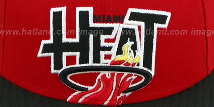 Heat 'PROFILIN' Red-Black Fitted Hat by New Era