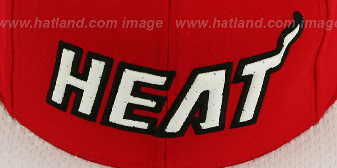 Heat 'RED-ALERT SNAPBACK' Red-White Hat by Mitchell & Ness