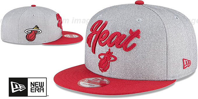 Heat 'ROPE STITCH DRAFT SNAPBACK' Grey-Red Hat by New Era