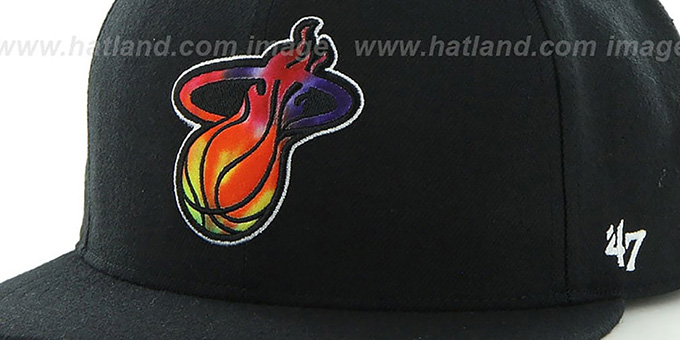 Heat 'SHAKEDOWN' Black Fitted Hat by 47 Brand