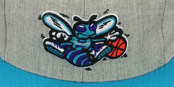Hornets '2T-HEATHER STRAPBACK' Hat Mitchell & Ness