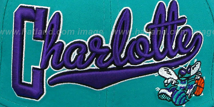 Hornets 'BLOCK-SCRIPT SNAPBACK' Teal Hat by New Era