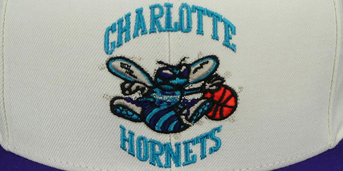 Hornets 'CREAMTOP STRAPBACK' Hat by Mitchell & Ness