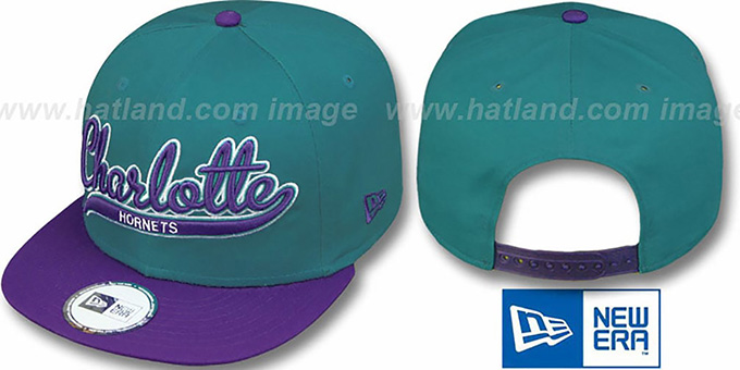 Hornets HW '2T SCRIPTER SNAPBACK' Teal-Purple Hat by New Era