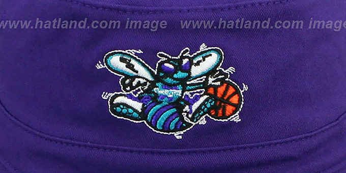 Hornets HW 'BASIC BUCKET' Purple Hat by Mitchell and Ness
