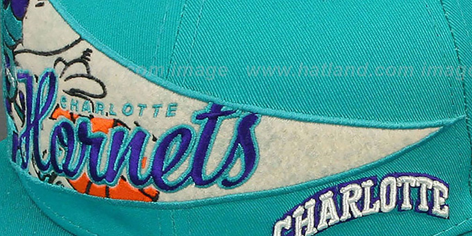 Hornets 'PENNANT SNAPBACK' Teal Hat by New Era