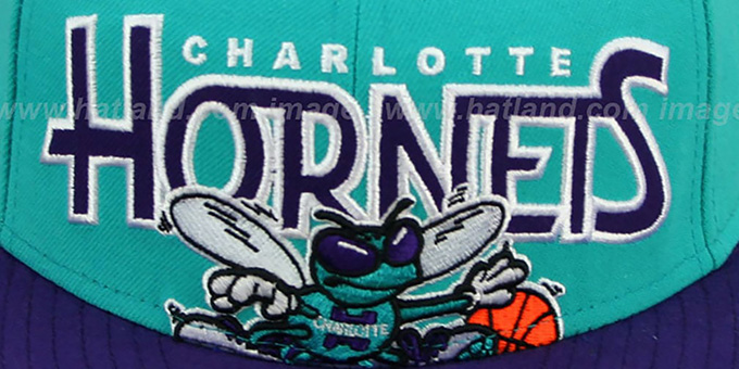 Hornets 'PROFILIN' Teal-Purple Fitted Hat by New Era