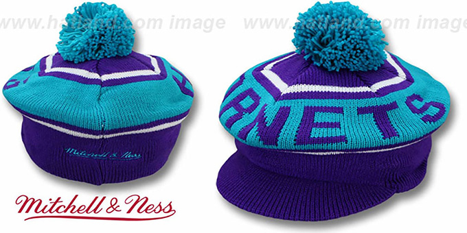 Hornets 'RERUN KNIT BEANIE' by Mitchell and Ness