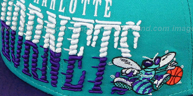 Hornets 'SAILTIP SNAPBACK' Teal-Purple Hat by New Era