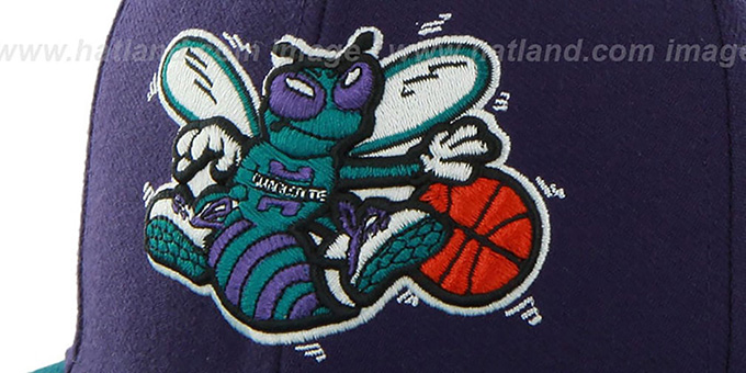 ... Hornets  SURE-SHOT SNAPBACK  Purple-Teal Hat by Twins 47 Brand ... 38cd81519397