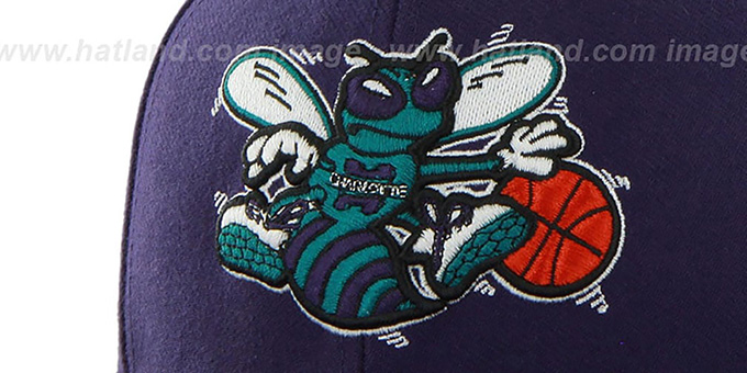 Hornets 'SURE-SHOT SNAPBACK' Purple Hat by Twins 47 Brand