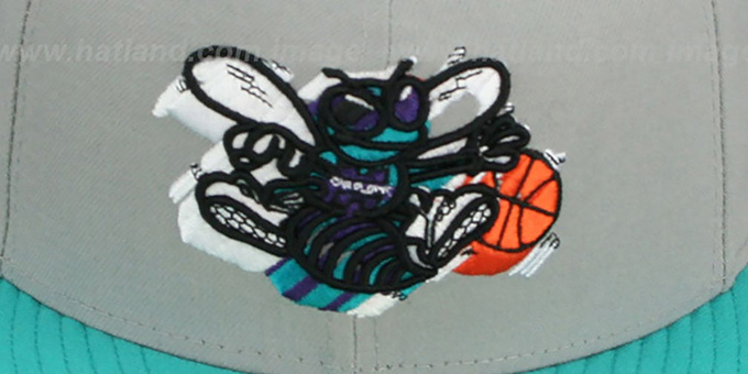 Hornets 'TRACE-POP' Grey-Teal Fitted Hat by New Era