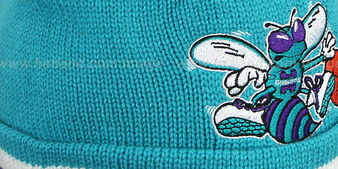 Hornets 'XL-LOGO BEANIE' Teal by Mitchell and Ness