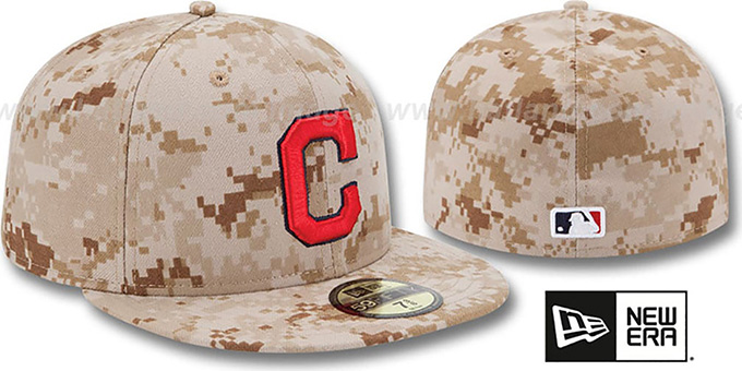 Indians 2013 'STARS N STRIPES' Desert Camo Hat by New Era