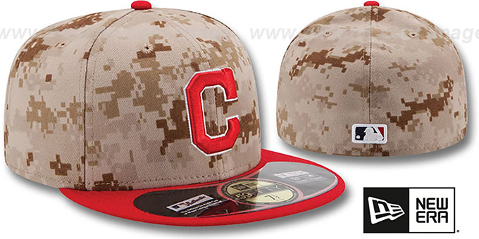 Indians '2014 STARS N STRIPES' Fitted Hat by New Era