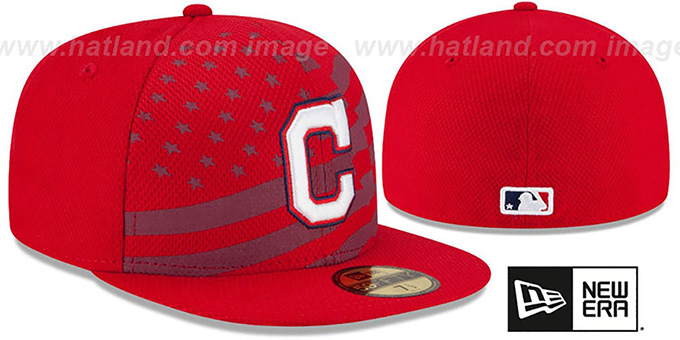 Indians '2015 JULY 4TH STARS N STRIPES' Hat by New Era
