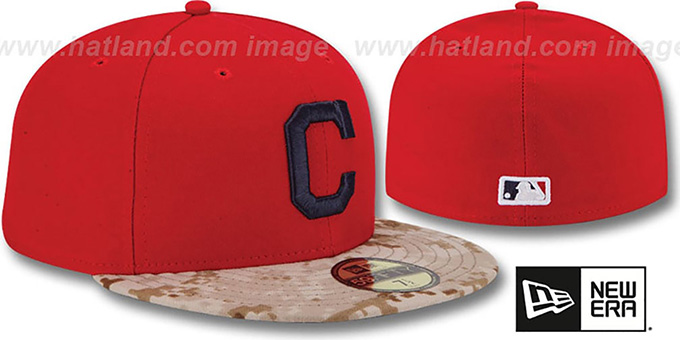 Indians '2015 STARS N STRIPES' Fitted Hat by New Era
