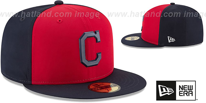Indians '2018 PROLIGHT-BP' Red-Navy Fitted Hat by New Era
