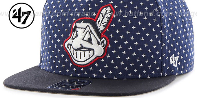 Indians 'CROSSBREED SNAPBACK' Navy Hat by Twins 47 Brand
