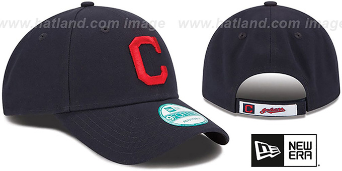 Indians 'THE-LEAGUE ROAD STRAPBACK' Navy Hat by New Era