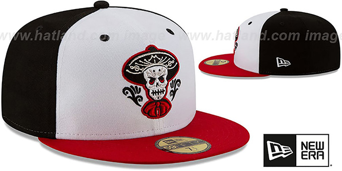Isotopes 'COPA' White-Black-Red Fitted Hat by New Era