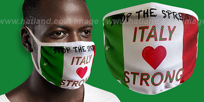 ITALY STRONG FLAG Washable Fashion Mask by Hatland.com