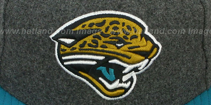 02c91ab1e ... Jaguars  2T NFL MELTON-BASIC  Grey-Teal Fitted Hat by New Era ...
