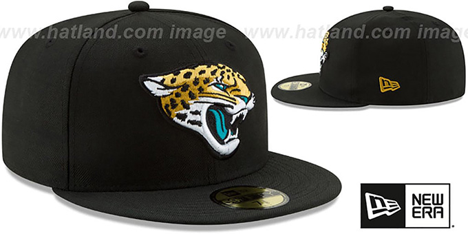 Jaguars 'NFL TEAM-BASIC' Black Fitted Hat by New Era