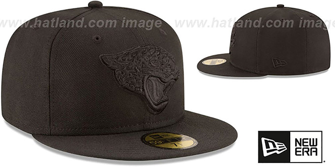 Jaguars 'NFL TEAM-BASIC BLACKOUT' Fitted Hat by New Era