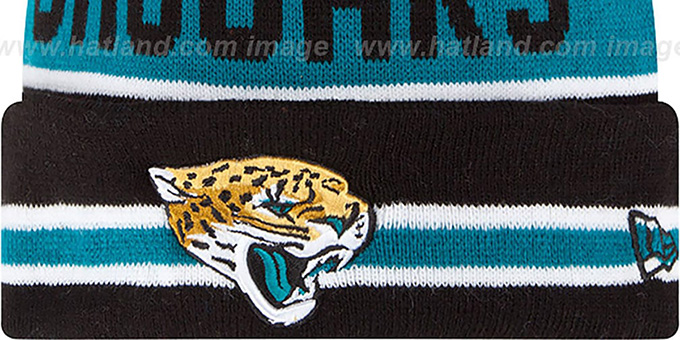 Jaguars 'THE-COACH' Black Knit Beanie Hat by New Era