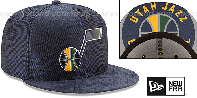 Utah Jazz 2017 ONCOURT DRAFT Navy Fitted Hat by New Era dac47959d26