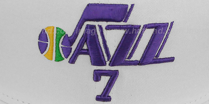 Jazz MARAVICH 'TEAM-UP' White Fitted Hat by New Era