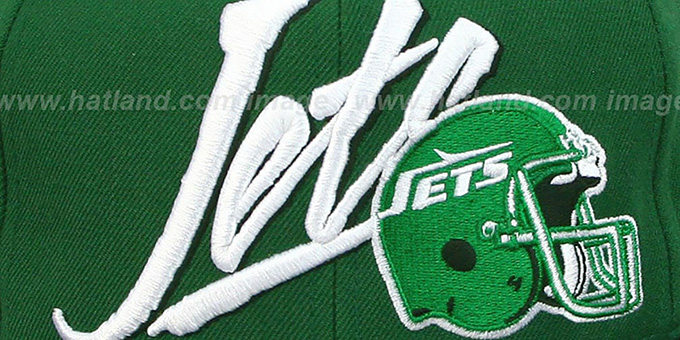 Jets '2T VICE SNAPBACK' Green-Black Adjustable Hat by Mitchell & Ness