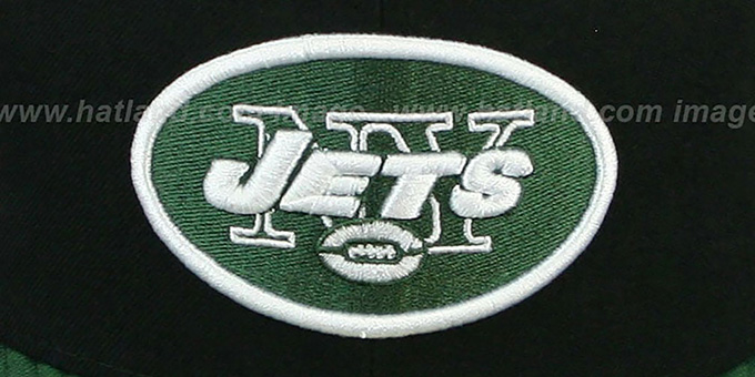 Jets 'NFL 2T-TEAM-BASIC' Black-Green Fitted Hat by New Era