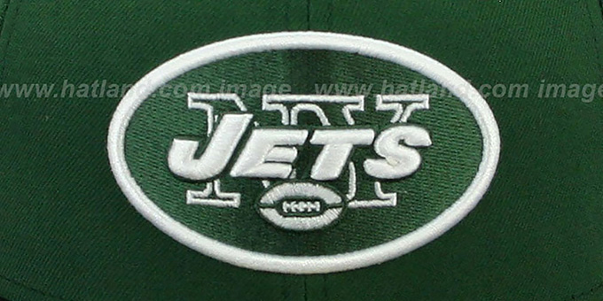 Jets 'NFL 2T-TEAM-BASIC' Green-Black Fitted Hat by New Era