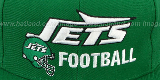 Jets 'NFL-BLOCKER SNAPBACK' Green Hat by Mitchell & Ness
