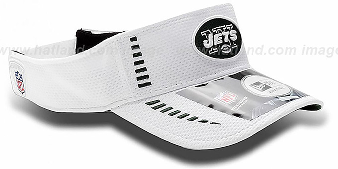 Jets 'NFL TRAINING' White Visor by New Era