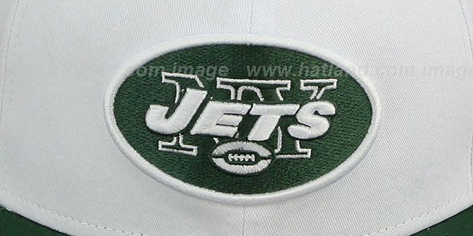 Jets 'WHITETOP SNAPBACK' White-Green Hat by New Era